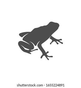 Frog logo vector design template, Silhouette Frog logo animal, Illustration