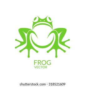 Frog. Logo. Vector illustration