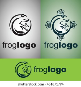 frog logo from wild nature set