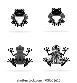 tribal frog images stock photos vectors shutterstock rh shutterstock com Tribal Frog Tattoo Designs Black and White Tribal Frog