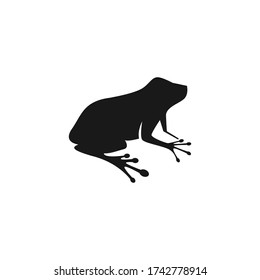 frog silhouette on white background vector