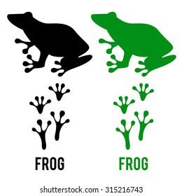 frog footprint images stock photos vectors shutterstock rh shutterstock com Duck Footprints Snake Footprints
