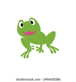 frog symbols logo and template on white background