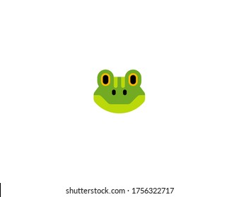 Frog vector flat icon. Isolated frog face emoji illustration