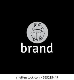 Frog vector logo design template
