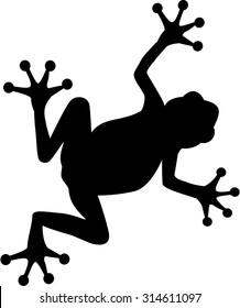 Frog walking silhouette