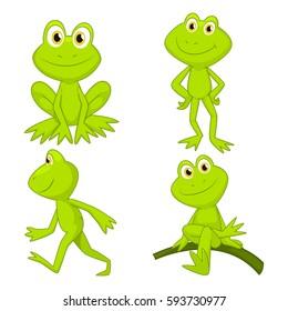 frogs cartoon set 2