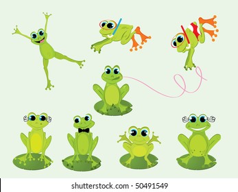 Frogs - Vector