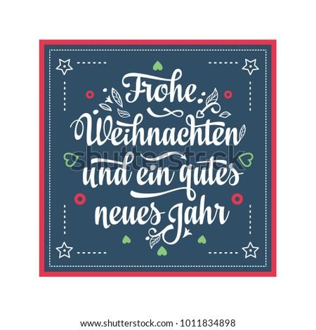 Frohe Weihnacht Neues Jahr Congratulations German Stock Vector ...