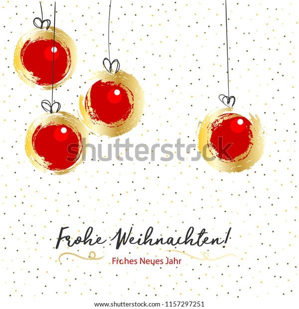 Frohe Weihnachten Frohes Neues Jahr Merry Stock Vector