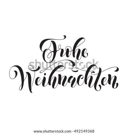 Frohe Weihnachten Modern Lettering Design Merry Stock-Vektorgrafik ...