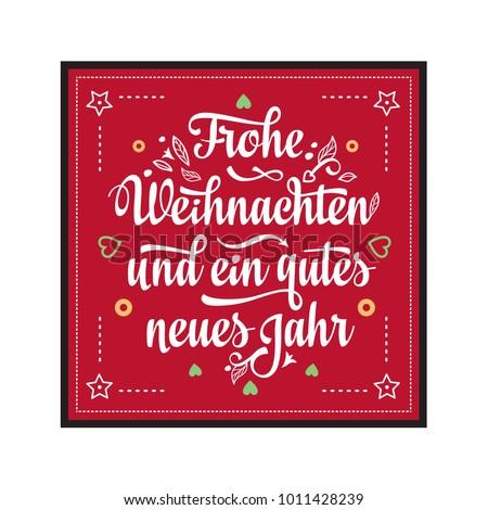 Frohe Weihnachten Neues Jahr Congratulations German Stock Vector ...