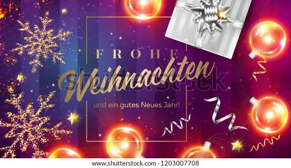 Email Frohe Weihnachten.Frohe Weihnachten Und Ein Gutes Neues Stock Vector Royalty Free