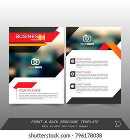 Front and back cover of a modern business brochure layout or flyer template, Layout, brochure, template, flayer, magazine, cover design for annual report, can use for business or your event