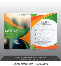 Front and back cover of a modern business brochure layout or flayer template, Layout, brochure, template, flayer, magazine, cover design for annual report, can use for business or your event
