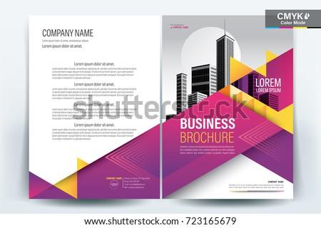 front back cover modern business brochure のベクター画像素材