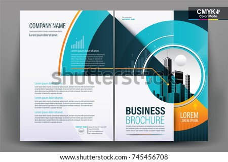 front back cover modern business brochure のベクター画像素材