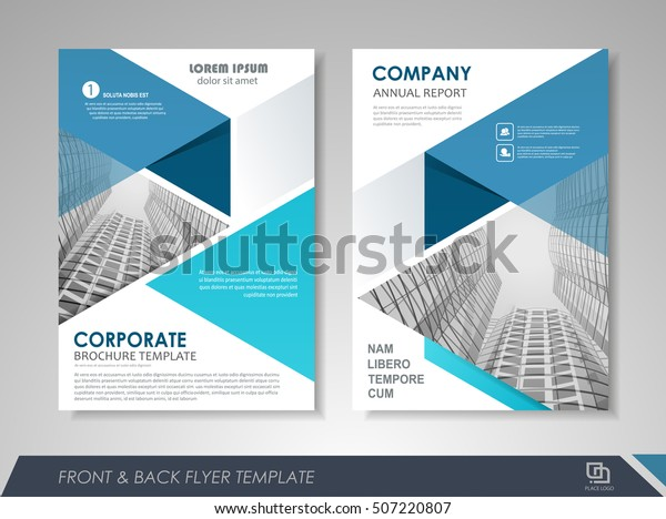 Front Back Page Annual Report Brochure Stock Vector Royalty