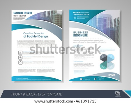 front back page brochure template flyer のベクター画像素材