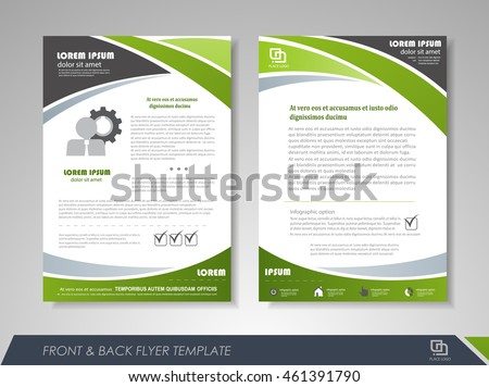 front back page brochure template flyer stock vector royalty free