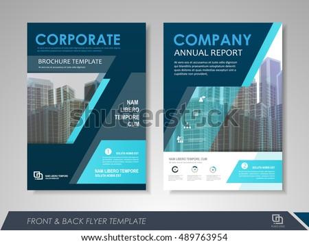 front back page brochure template flyer のベクター画像素材