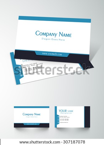 Front back side presentation business card stock vector royalty front and back side presentation of a business card design on grey background colourmoves