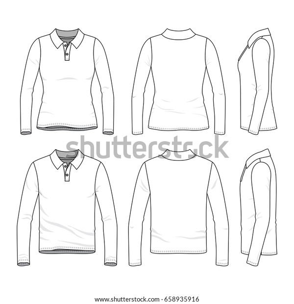 Front Back Side Views Clothing Set Stock Vector Royalty Free 658935916