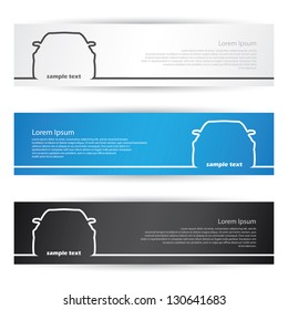 Front car banners - vector illustration
