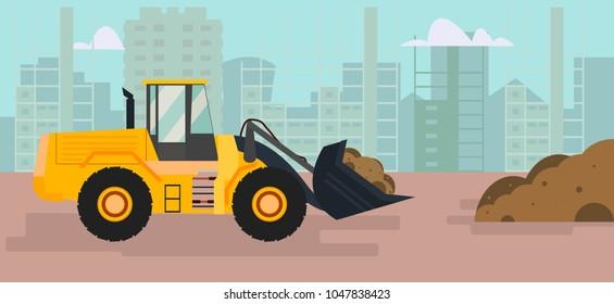 Front end loader, excavator