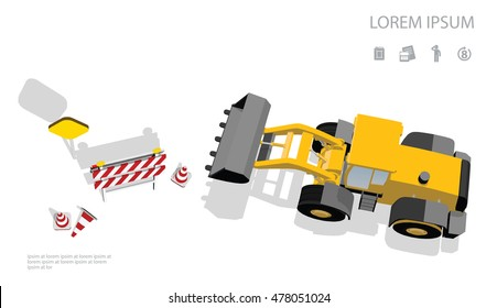 Front loader top view