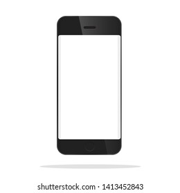 The front model of the black smartphone.