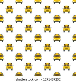 Front of old school bus icon. Flat illustration of front of old school bus vector icon for web design