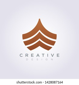 Front of the Ship Template Design Company Logo Vector Symbol Icon.