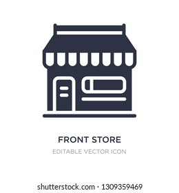 front store with awning icon on white background. Simple element illustration from Commerce concept. front store with awning icon symbol design.