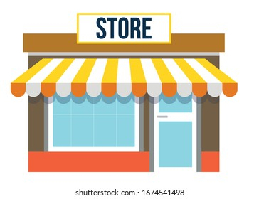 Front Of Store  Vector Illustration Design