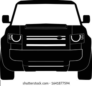 Front Suv Car Icon Symbol
