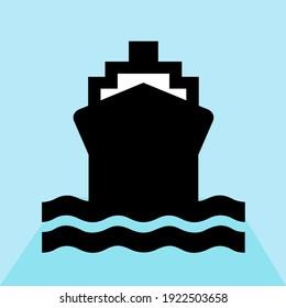 Front View Boat Sailing conceptual design illustration vector