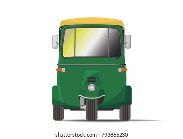 Front view of Classic India Rickshaw