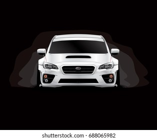Front View Sedan with Wide Body Kit