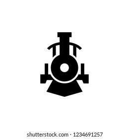 front view transport, locomotive icon. Element of transport front view icon for mobile concept and web apps. Glyph front view transport, locomotive icon can be used for web