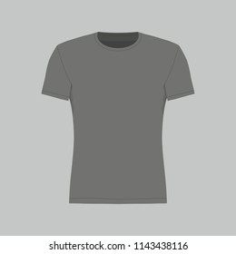 Front views of men's black t-shirt on white background