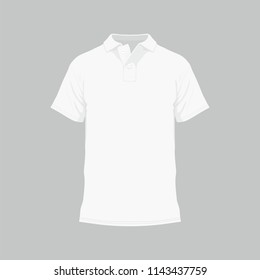 Front views of men's white t-shirt on white background