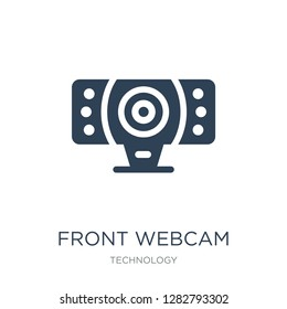 front webcam icon vector on white background, front webcam trendy filled icons from Technology collection, front webcam vector illustration