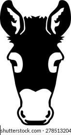 Frontview Donkey head