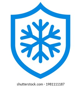 Frost protection vector icon isolated on white background