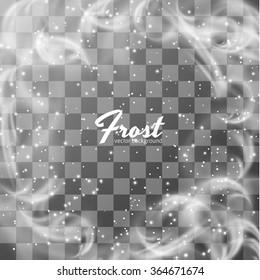 Frost window. Hoarfrost. Winter background. Vector eps10.