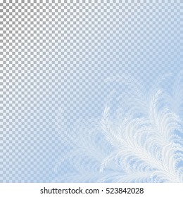 Frost window. Hoarfrost. Winter background. Vector eps10. isolated on a transparent background