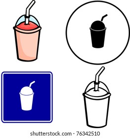 frozen beverage illustration sign and symbol
