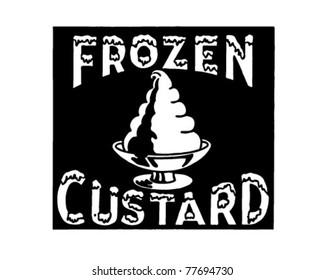 Frozen Custard - Retro Ad Art Banner