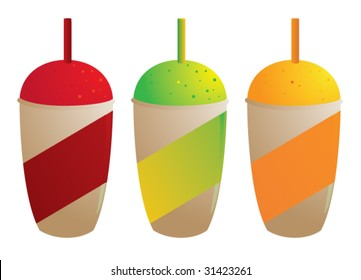 Frozen drinks isolated - vector